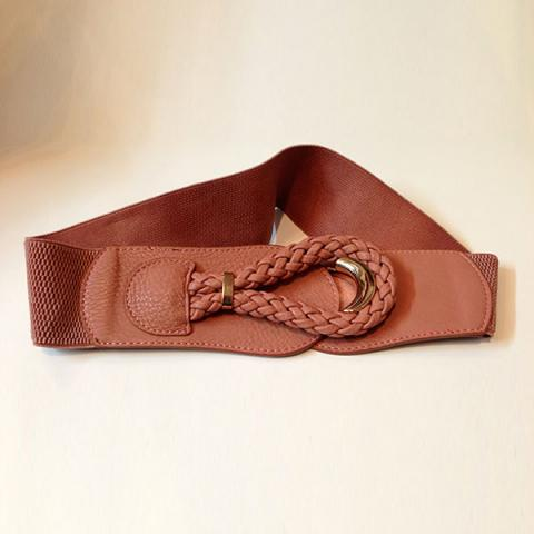 Crescent buckle elastic band wide girdle