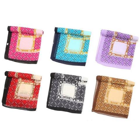 Tartan chiffon scarf