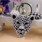 Crystal leopard keychain handbag charm