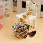 Crystal love fish keychain bag/purse charm