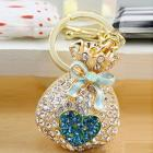 Crystal purse coin bag keychain handbag charm