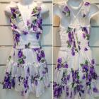 Girl's white floral halter style dress