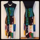 Patchwork convertible dress/skirt