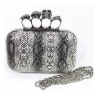 Snake skull evening clutch bag (PLU1044)
