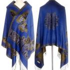 Reversible butterfly shawl