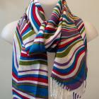 Candy-stripe shawl scarf
