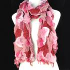 100% Polyester, mixed color knitted scarf