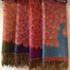Women's peacock pashmina cotton scarf