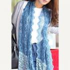 Elegant lace crochet scarf