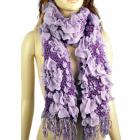 Weave-knit winter flower scarf
