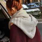 Cool hooded knit scarf