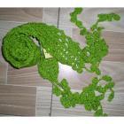 Solid handmade crochet flower scarf