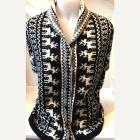 Women's high quality thick knit jacquard shawl